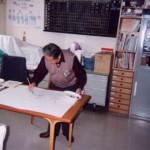 会社の歴史:萩原画伯かっぱ絵図揮毫その2
